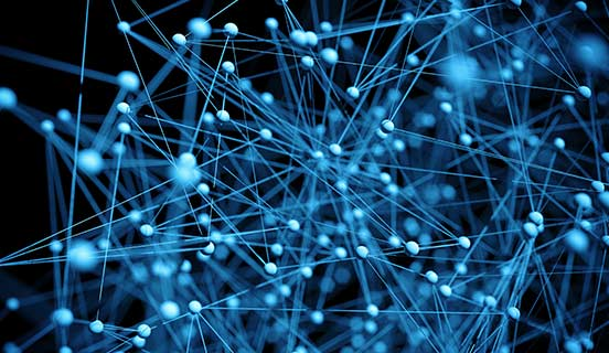 Abstract web of molecules - big data concept